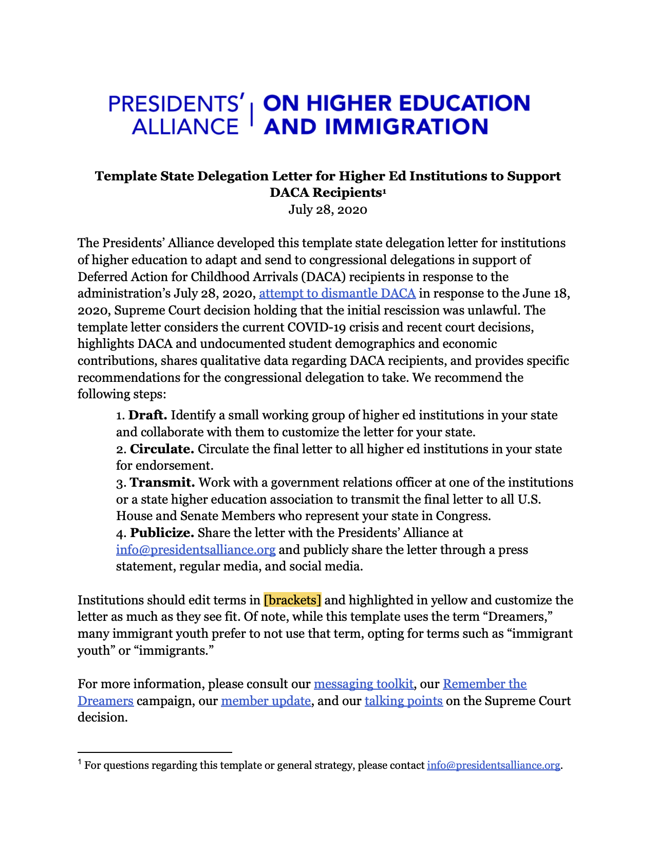 Immigration Letter Of Support from www.presidentsalliance.org