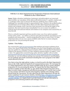 Link to International Student Visa Concerns Talking Points